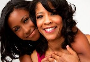 Portrait of an African American Mother and daughter.