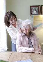 mother caring for aging parent